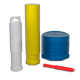 Transparent tank clear cylinder. Plastic tubes with end