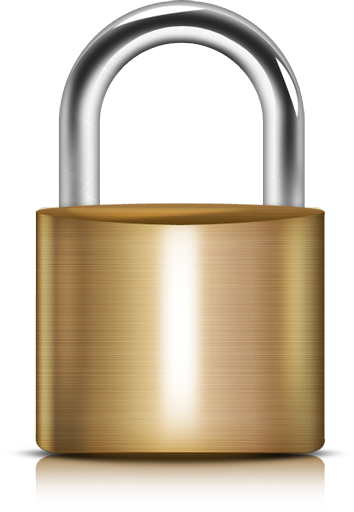Vector steel background. Padlock png image with