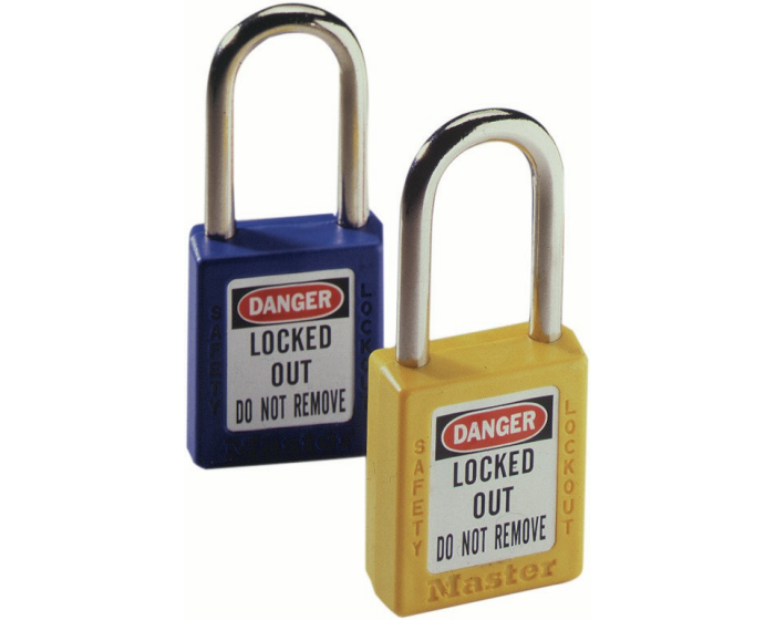 Transparent padlock blue. Xenoy shackle wkey