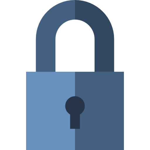 Transparent padlock blue. Json documentation