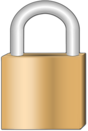 Transparent padlock cartoon. Png images all