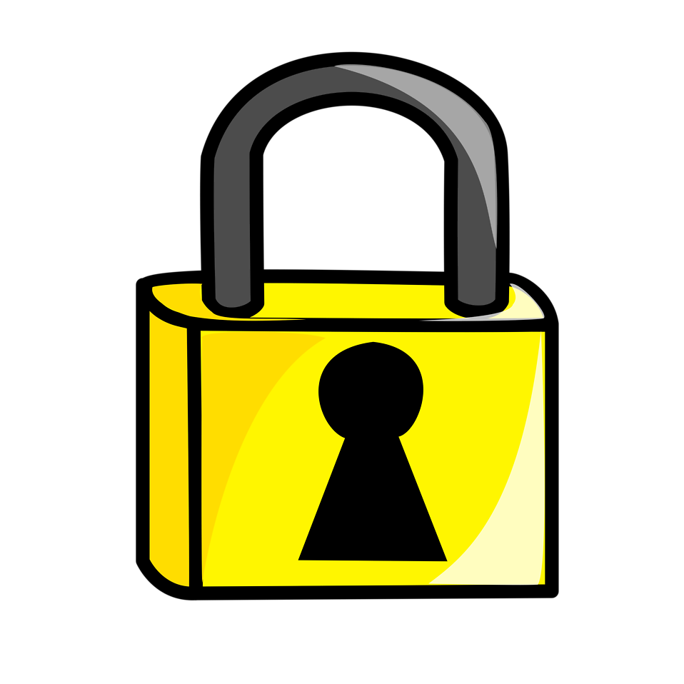 Transparent padlock cartoon. Lock free stock photo