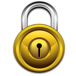 Transparent padlock gold. Icon png clipart image