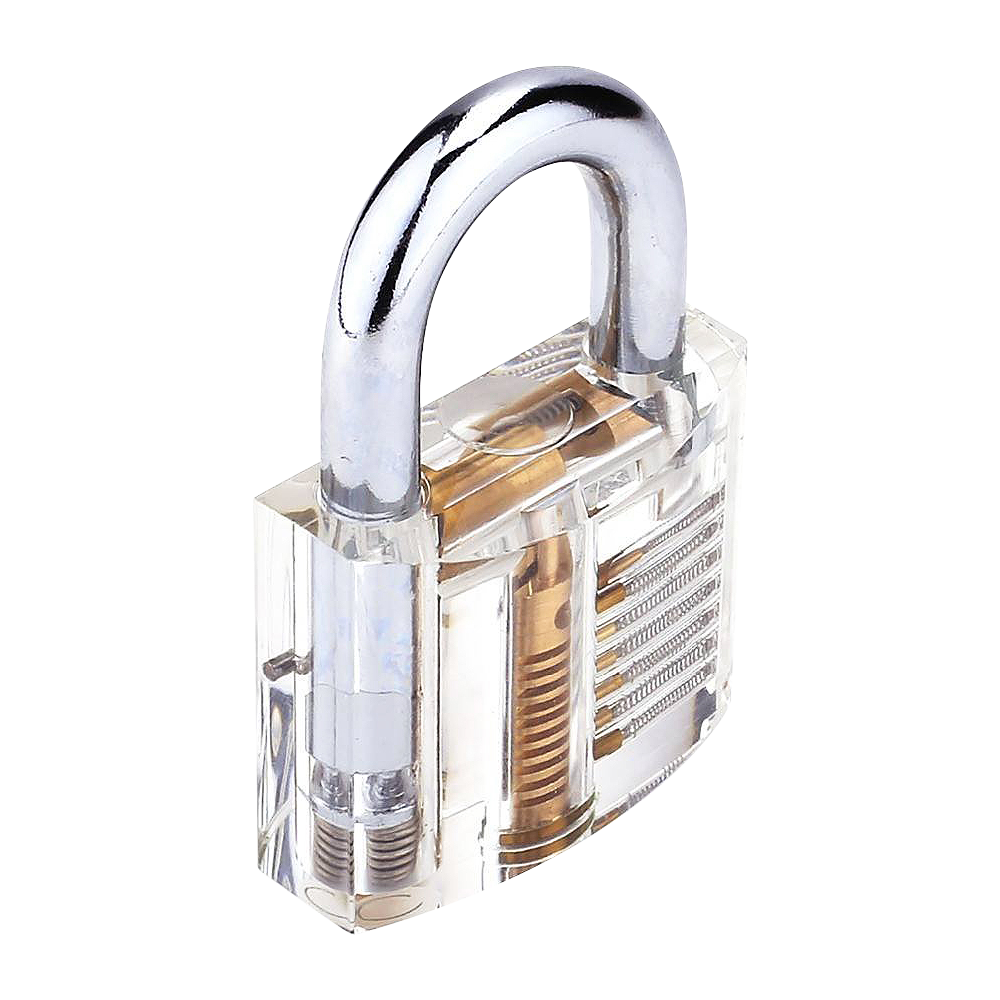 Transparent padlock practice. Clear locks