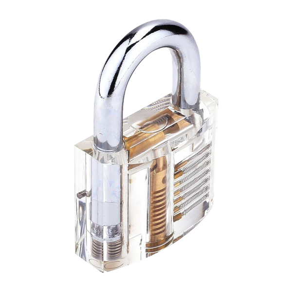 Transparent padlock practice. Clear locks lock pinterest