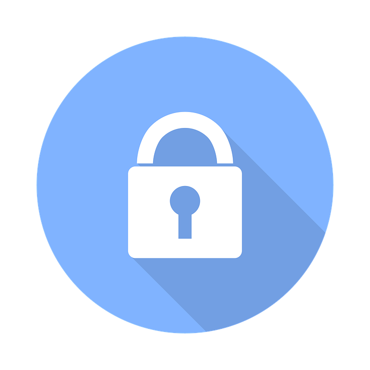 Transparent padlock blue. Free lock icon background