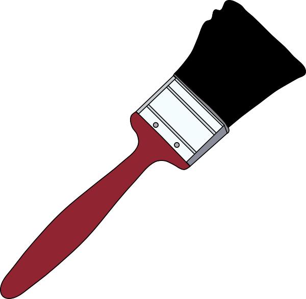 Transparent paintbrush animated. Tom red clip art