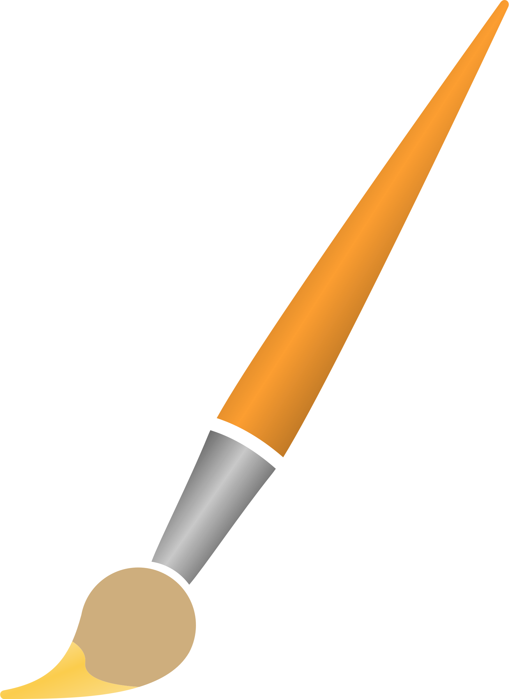 Transparent paintbrush clipart paint. Brush with yellow dye