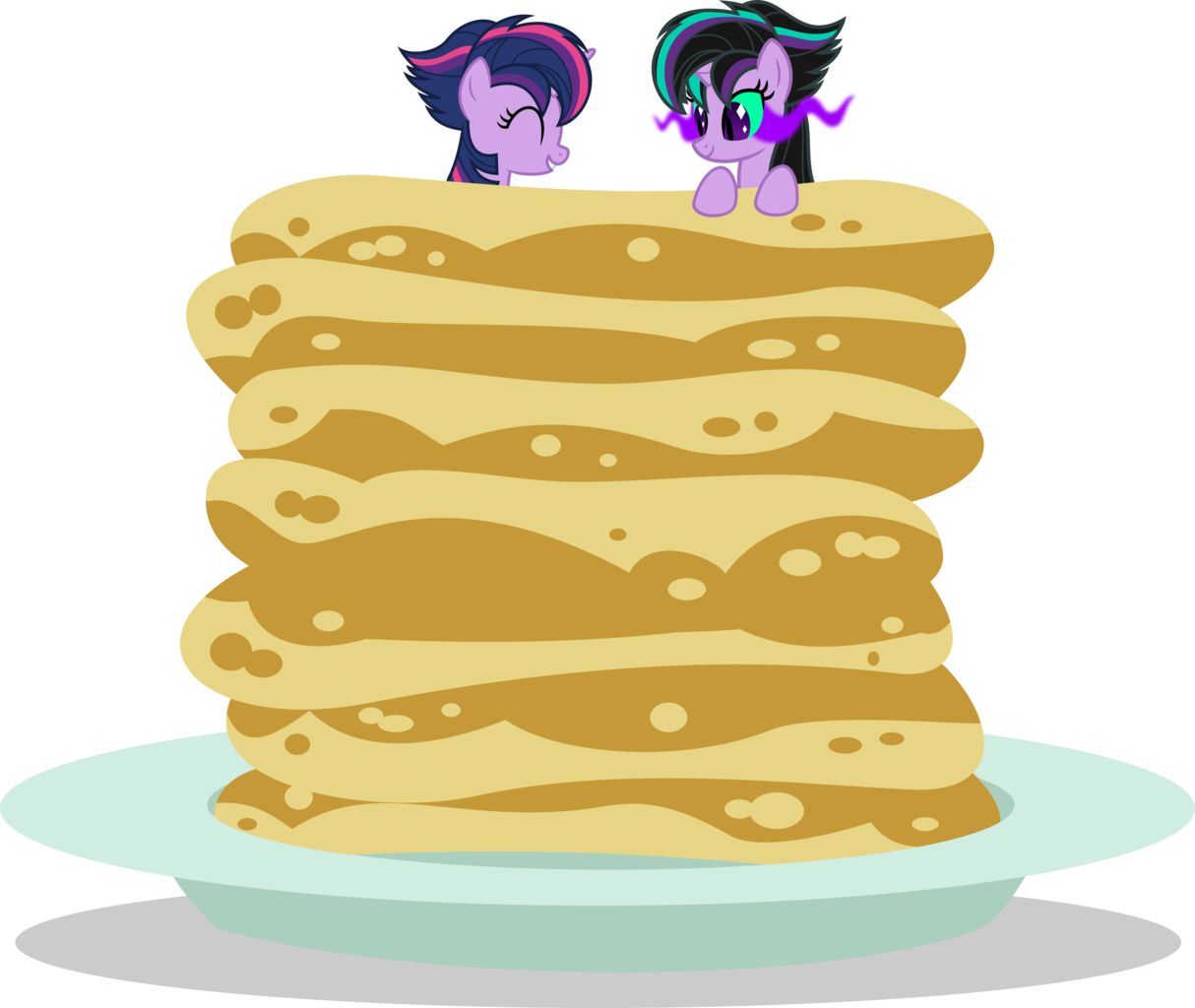 Transparent pancakes above. Alicorn alternate hairstyle