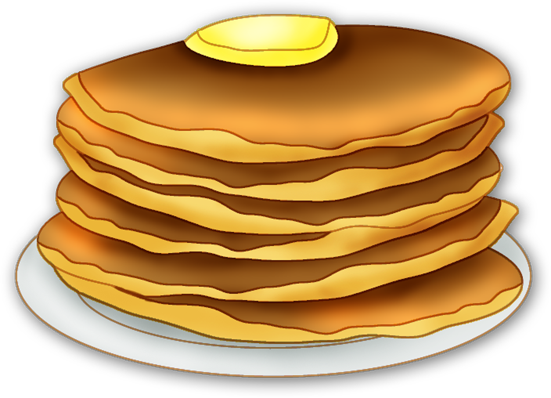 Transparent pancakes animated. Collection of pancake