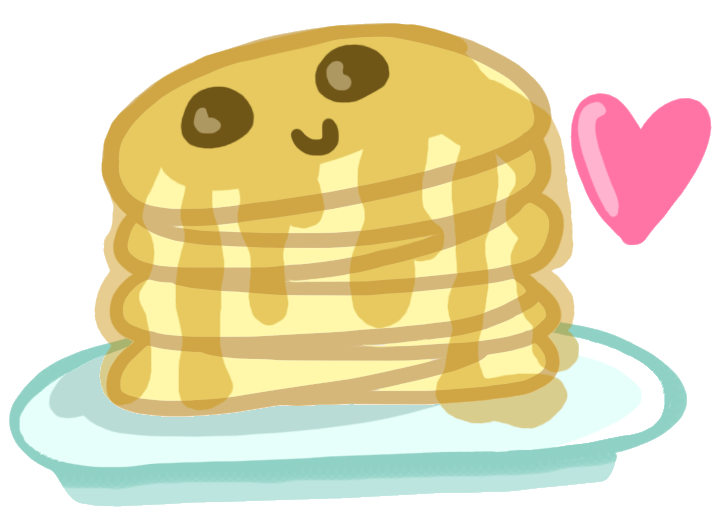 Transparent pancakes animated. Collection of cute
