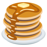 Transparent pancakes emoji. On emojione