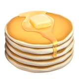 Transparent pancakes emoji. On apple ios