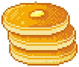 Transparent pancakes kawaii. Pixelated uploaded by sunny