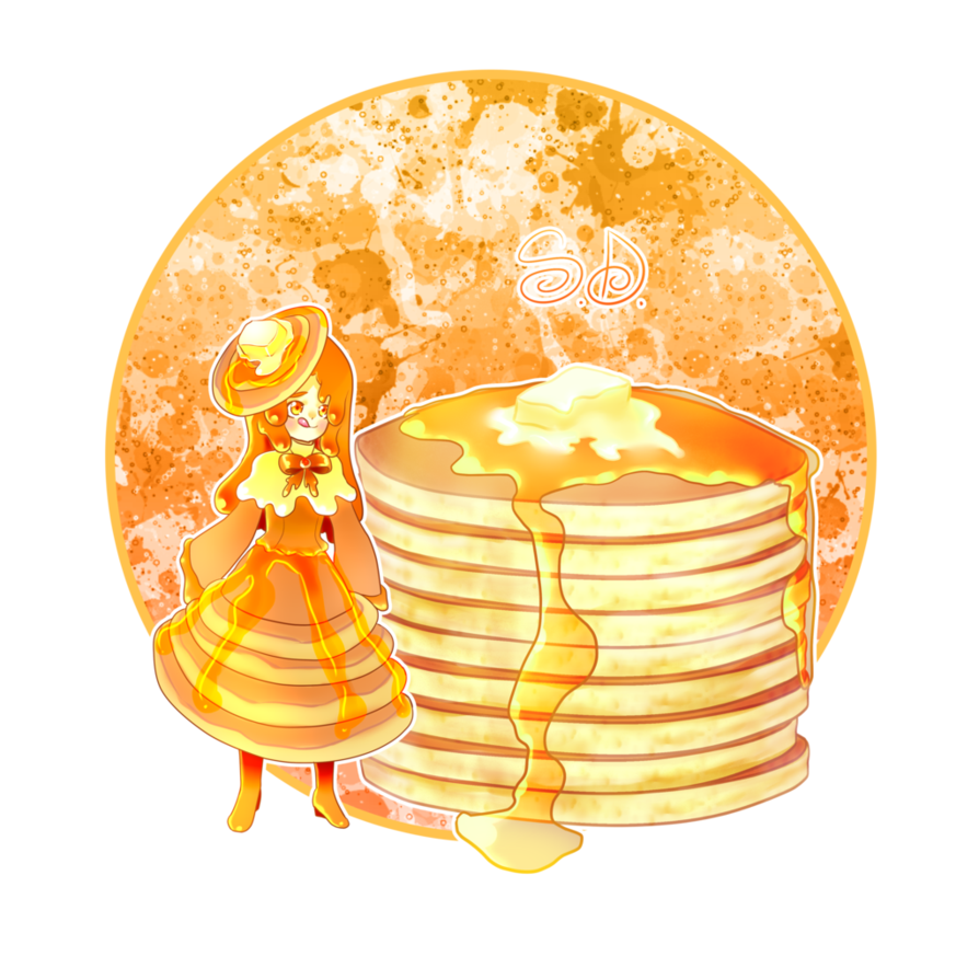 Transparent pancakes kawaii. Pancake by scarletdestiney food