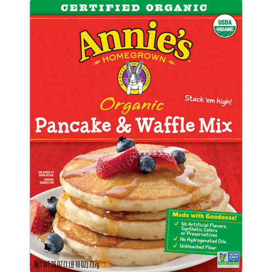Transparent pancakes single. Annie s organic pancake