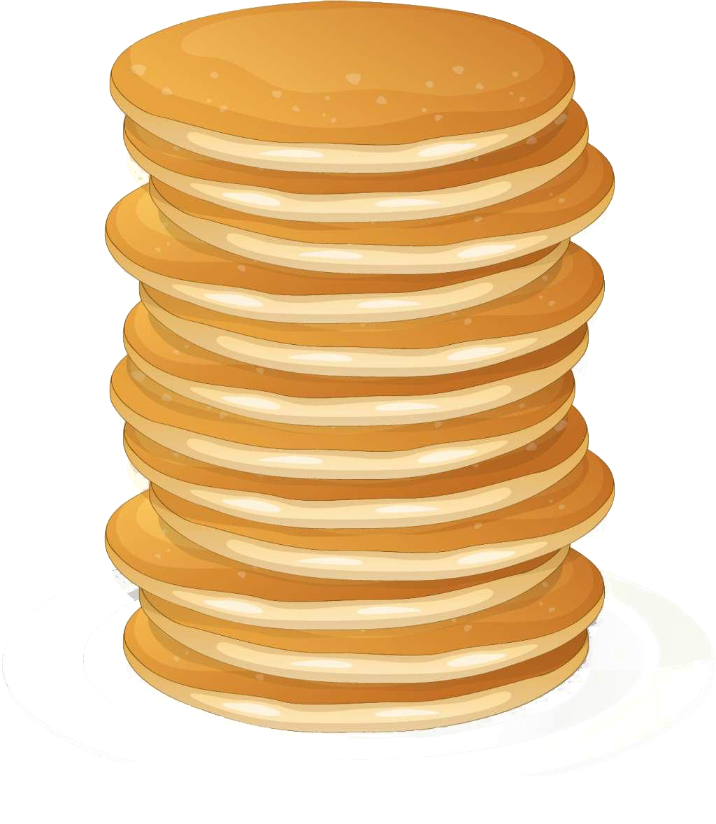 Transparent pancakes single. Pancake breakfast vector