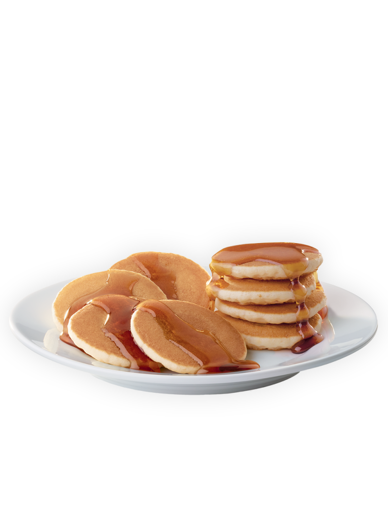 Transparent pancakes warm. Jack in the box