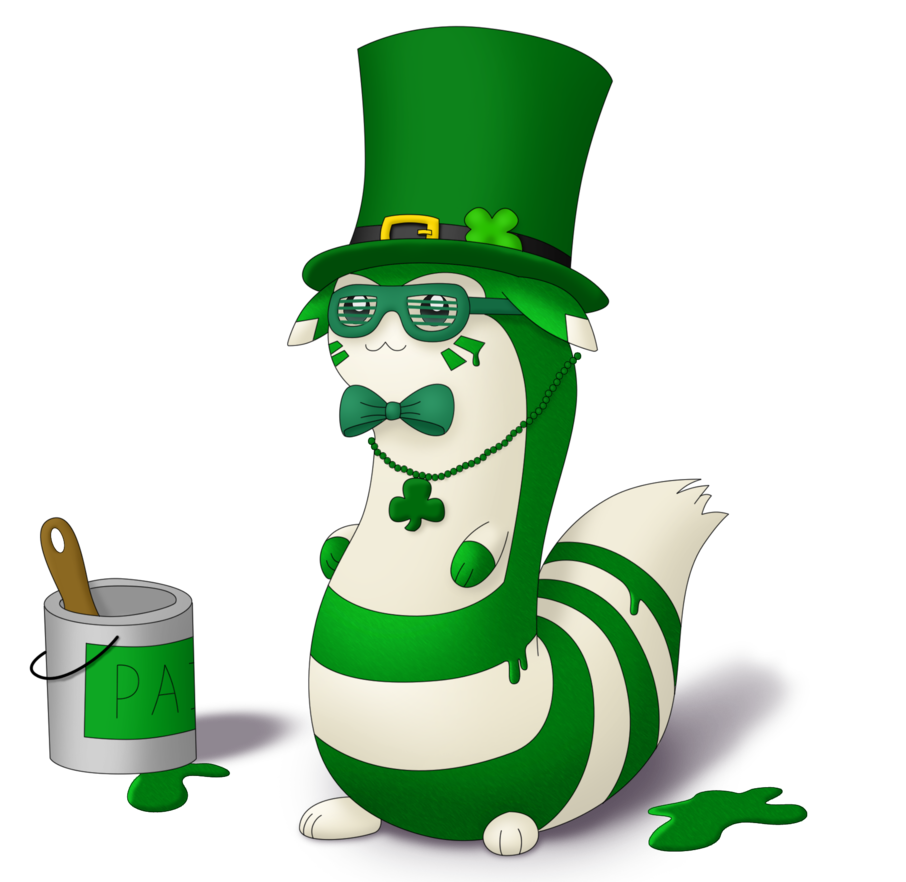 Transparent patrick inhaling. St s day furret