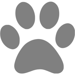 Gray icon free icons. Paw clip art colorful vector stock