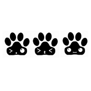 Transparent paw kawaii. Kenny the skeleton by