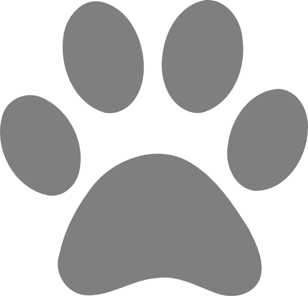 Transparent paw large. Print clip art at
