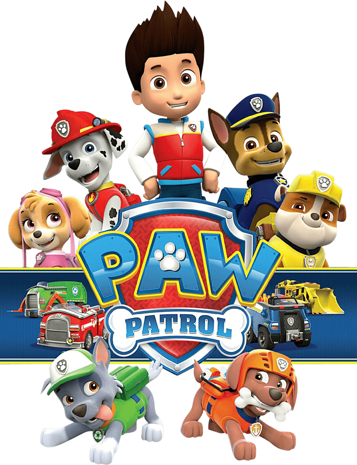 Transparent paw patrol. Pawpatrol with logo png