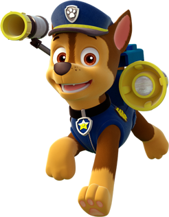 Transparent paw patrol. Image chase clipart png