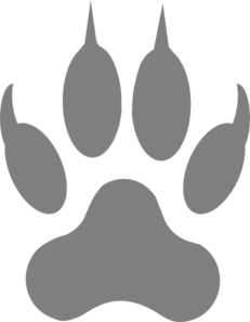 Transparent paw gray. Wolf clipart