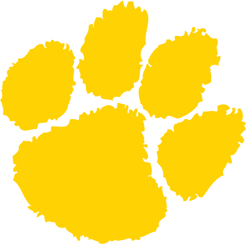 Transparent paw yellow. Tiger logo free image