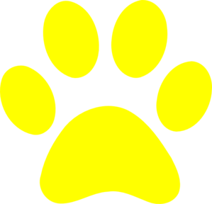 Transparent paw yellow. Paws clipart dog frames