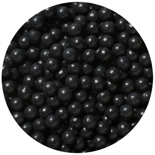 Transparent pearls black. Pressed candy lb bulk