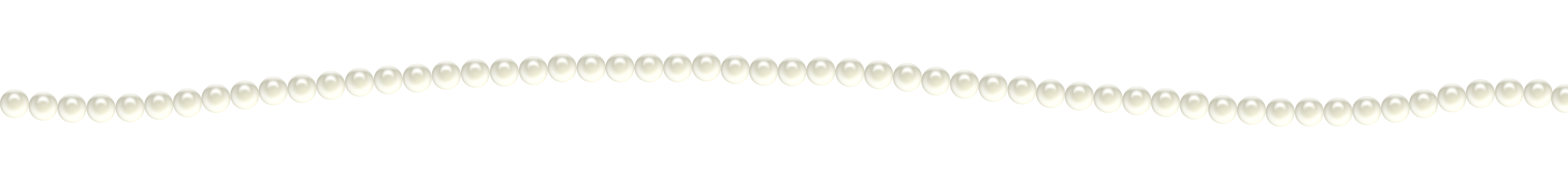 Transparent pearls border. Pearl decoration png clipart