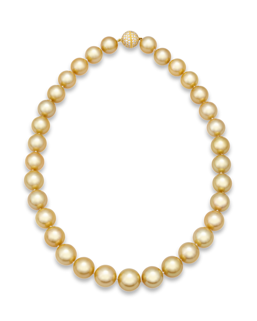 Transparent pearls gold. Estate jewelry pearl necklaces