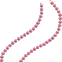 Transparent pearls pink. Jane aka justsomelady s
