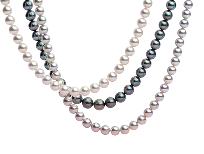 Transparent pearls one. Pearl necklaces strands free