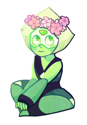 transparent peridot flower crown