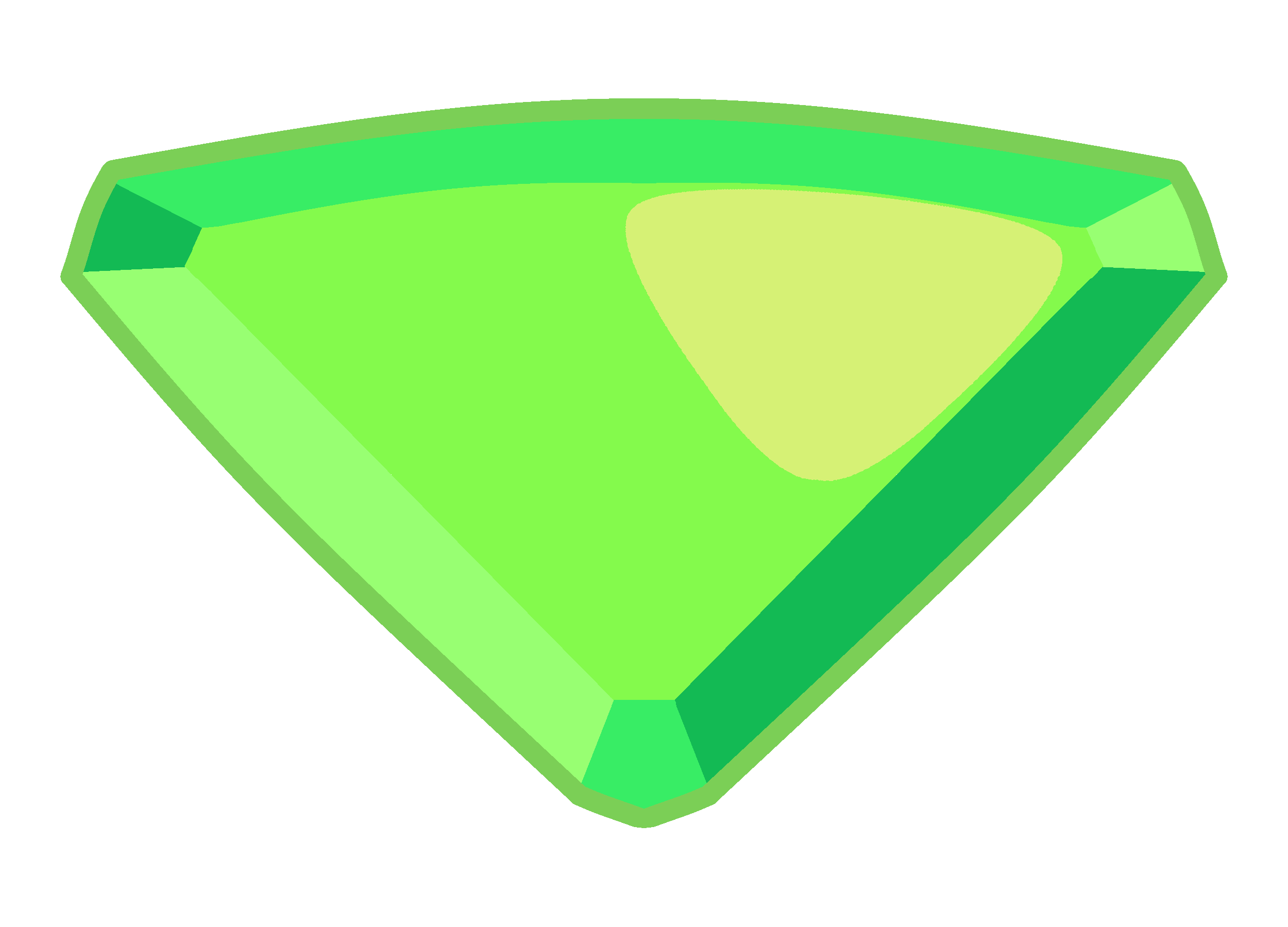 Transparent gem peridot. Collection of free gemmed