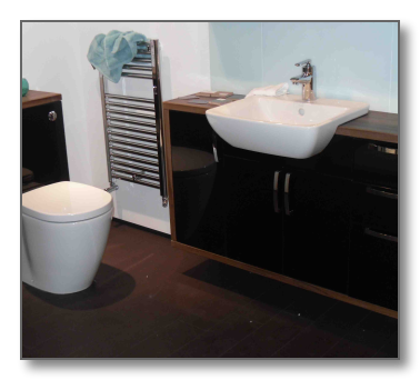 Transparent personality bathroom. And shower fitting leeds