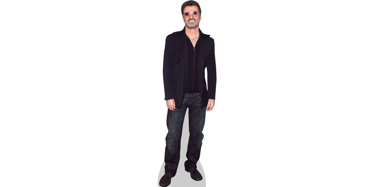 Transparent personality cutout. George michael casual cardboard