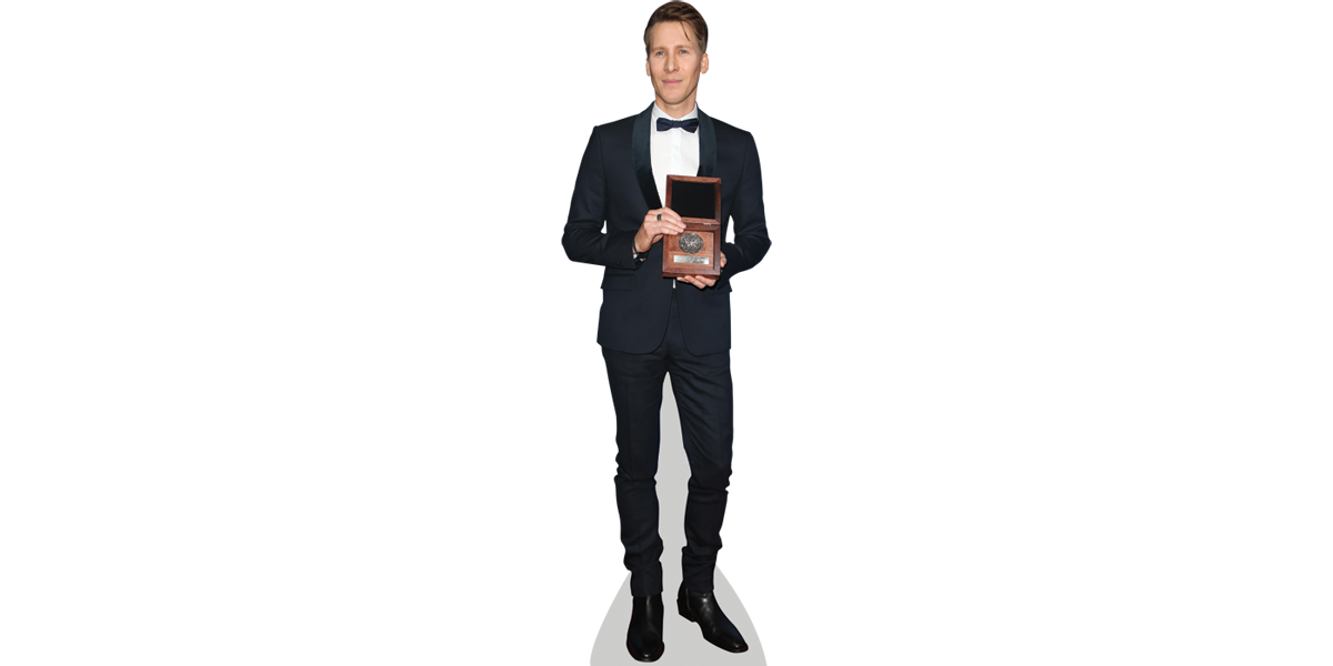Transparent personality cutout. Lance black cardboard celebrity