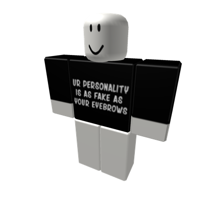 Transparent personality fake. Ur is as your