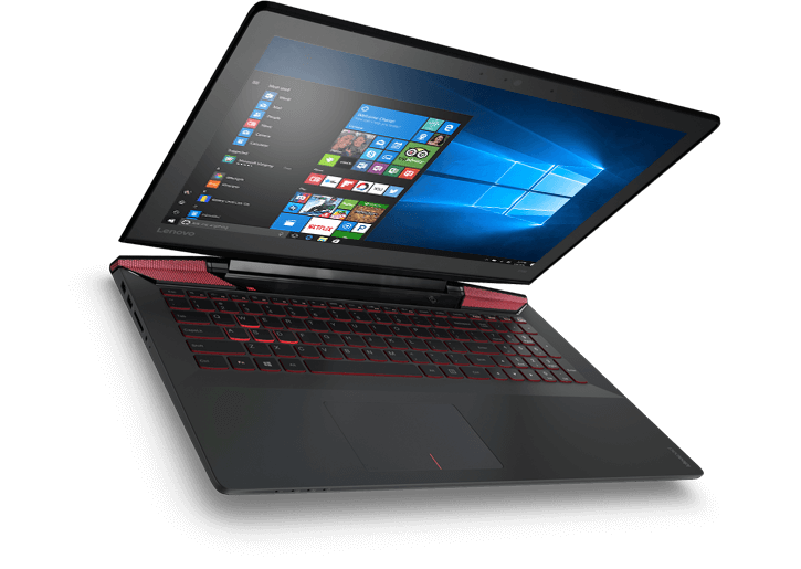 Transparent personality laptop. Ideapad y solid gaming