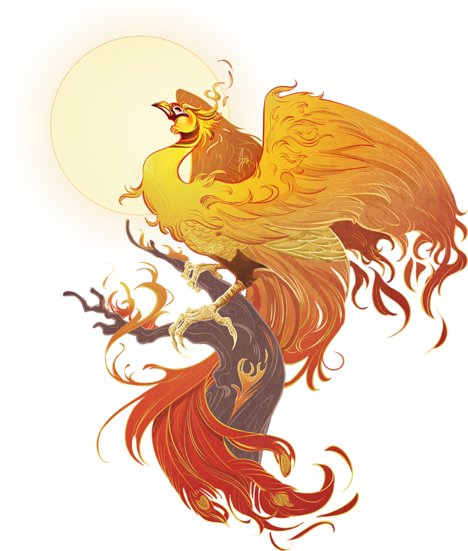 Transparent phoenix mythical. World s creatures guide