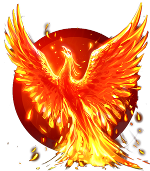 Transparent phoenix red. Collection of free fenks