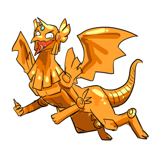 transparent phoenix winged dragon ra