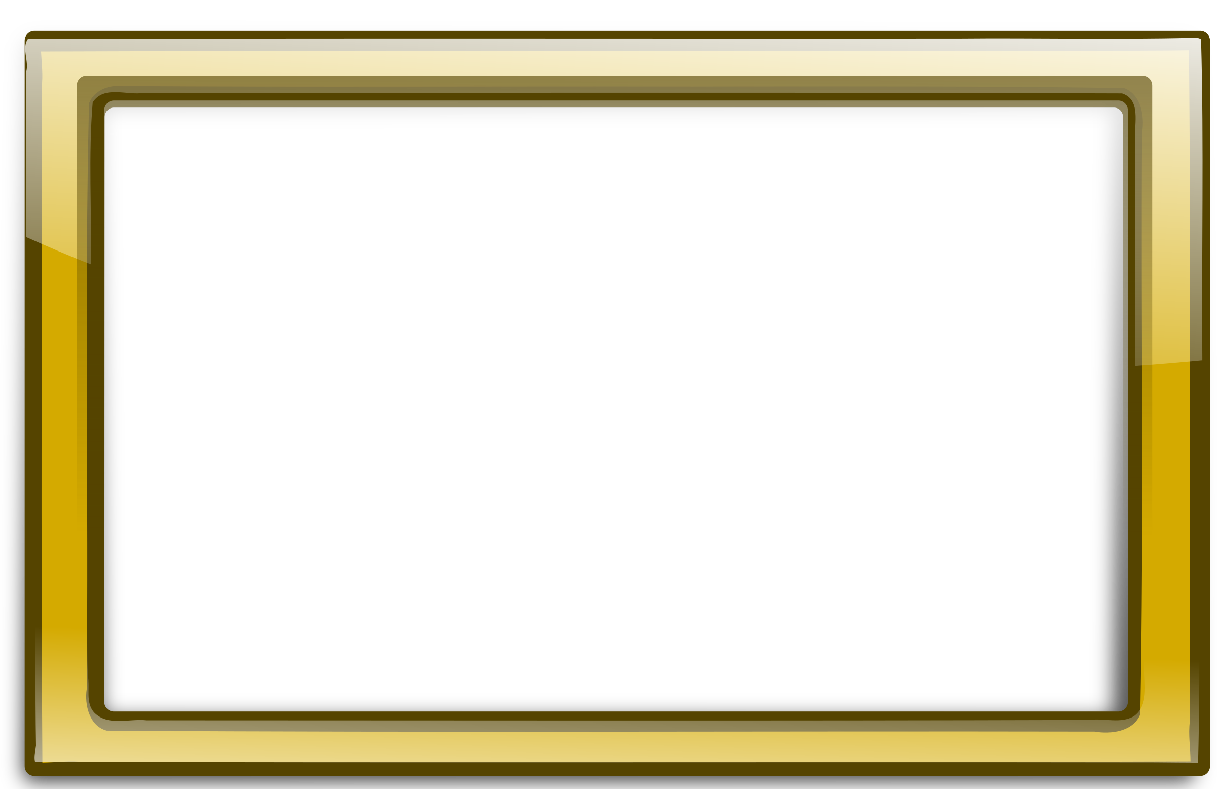 Transparent photo frame png. Gold border mart