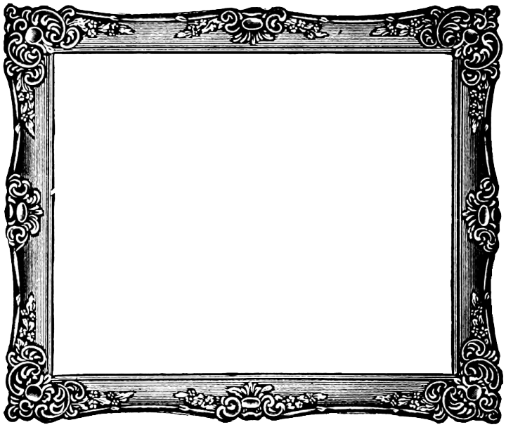 Transparent photo frame png. Vintage image mart