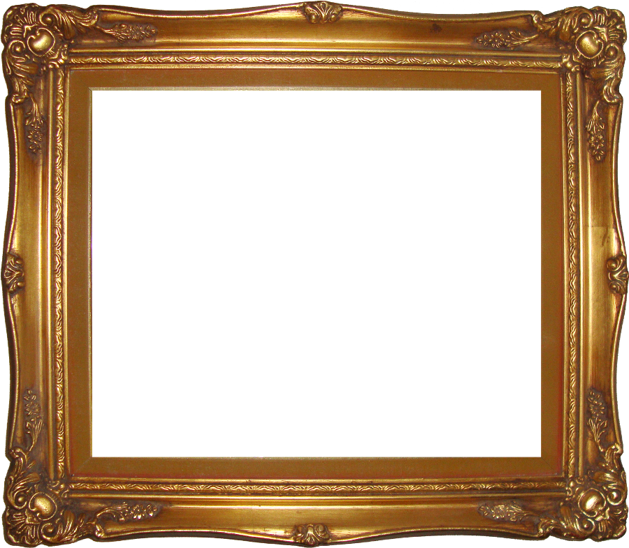 Transparent photo frame png. Gold images all pic