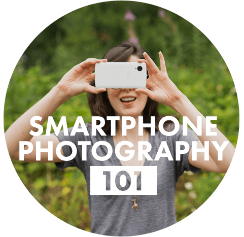 Transparent photographs concentrate. Smartphone photography